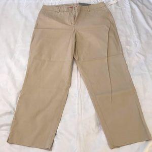 NWT Talbots Perfect Crop Pants Size 14 Curvy